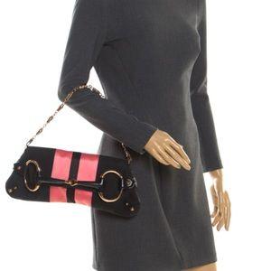 Gucci Tom ford horsebit bag pink monogram black